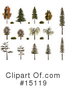 Royalty-Free (RF) Trees Clipart Illustration #15119