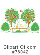 Royalty-Free (RF) Trees Clipart Illustration #76042