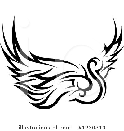 Swans Clipart #1230310 by dero