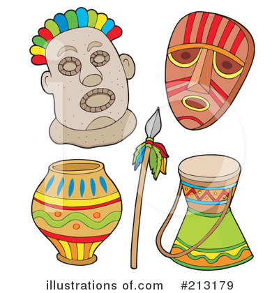 Tribal Mask Clipart #213179 by visekart