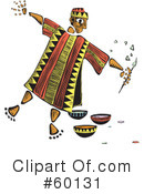 Royalty-Free (RF) Tribal Man Clipart Illustration #60131