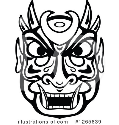Tribal Mask Clipart #1265839 by Vector Tradition SM