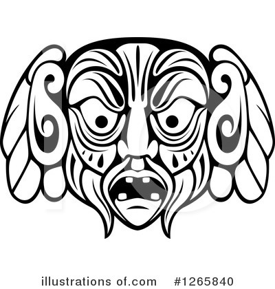Tribal Mask Clipart #1265840 by Vector Tradition SM
