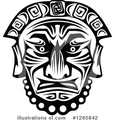 Tribal Mask Clipart #1265842 by Vector Tradition SM
