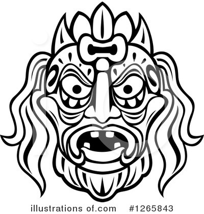 Tribal Mask Clipart #1265843 by Vector Tradition SM