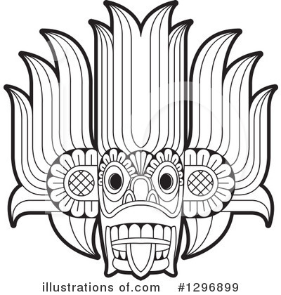 Tribal Mask Clipart #1296899 by Lal Perera