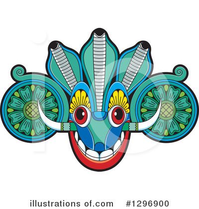 Royalty-Free (RF) Tribal Mask Clipart Illustration by Lal Perera - Stock Sample #1296900