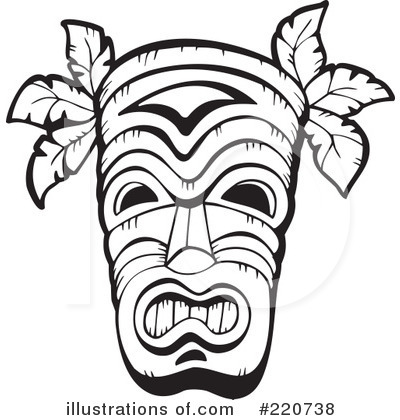 Tribal Mask Clipart #220738 by visekart