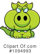 Triceratops Clipart #1094993 by Cory Thoman