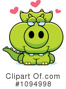 Triceratops Clipart #1094998 by Cory Thoman