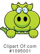 Triceratops Clipart #1095001 by Cory Thoman