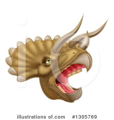 Triceratops Clipart #1305769 by AtStockIllustration