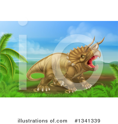 Triceratops Clipart #1341339 by AtStockIllustration