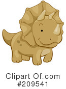 Royalty-Free (RF) Triceratops Clipart Illustration #209541