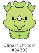 Triceratops Clipart #94393 by Cory Thoman