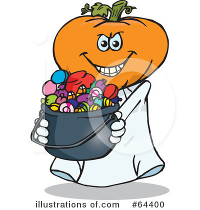 Trick Or Treating Clipart #64400 by Dennis Holmes Designs