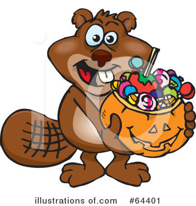 Beaver Clipart #64401 by Dennis Holmes Designs
