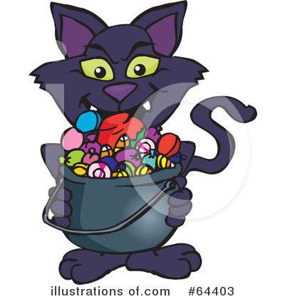 Black Cat Clipart #64403 by Dennis Holmes Designs