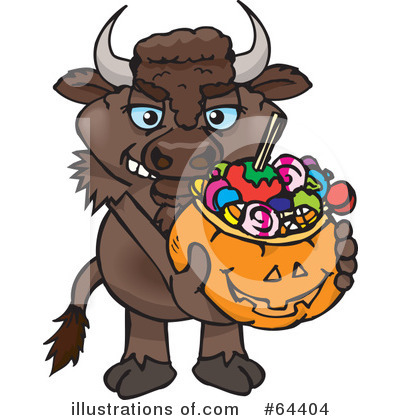 Bison Clipart #64404 by Dennis Holmes Designs