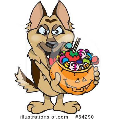 German Shepherd Clipart #64290 by Dennis Holmes Designs