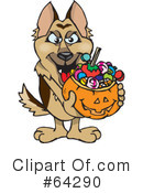 Trick Or Treating Clipart #64290 by Dennis Holmes Designs