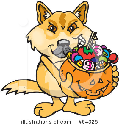 Dingo Clipart #64325 by Dennis Holmes Designs