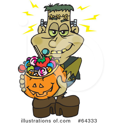 Trick Or Treating Clipart #64333 by Dennis Holmes Designs