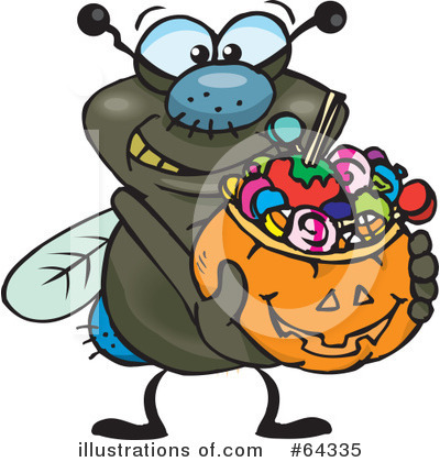 House Fly Clipart #64335 by Dennis Holmes Designs
