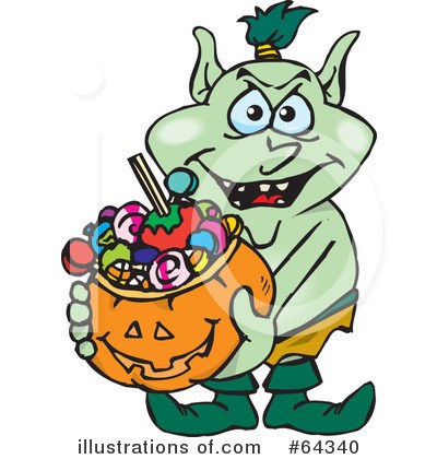 Royalty-Free (RF) Trick Or Treating Clipart Illustration by Dennis Holmes Designs - Stock Sample #64340