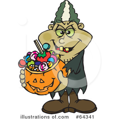 Trick Or Treating Clipart #64341 by Dennis Holmes Designs