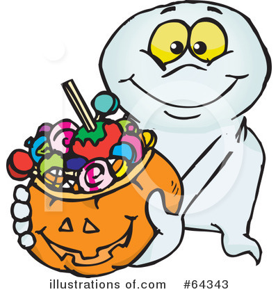 Trick Or Treating Clipart #64343 by Dennis Holmes Designs