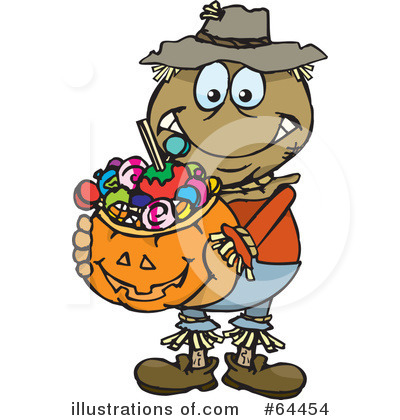 Trick Or Treating Clipart #64454 by Dennis Holmes Designs