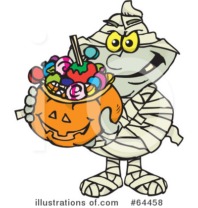 Trick Or Treating Clipart #64458 by Dennis Holmes Designs