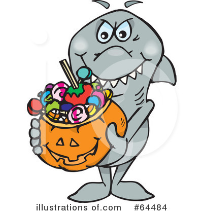 Shark Clipart #64484 by Dennis Holmes Designs