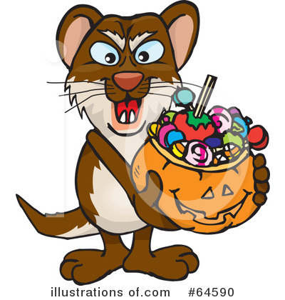 Weasel Clipart #64590 by Dennis Holmes Designs