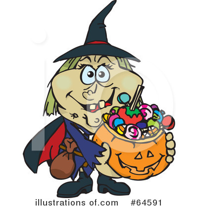 Trick Or Treating Clipart #64591 by Dennis Holmes Designs