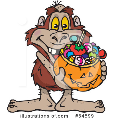 Trick Or Treating Clipart #64599 by Dennis Holmes Designs