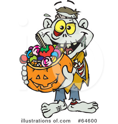 Trick Or Treating Clipart #64600 by Dennis Holmes Designs