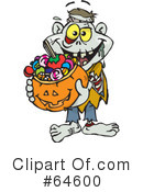Royalty-Free (RF) trick or treating Clipart Illustration #64600