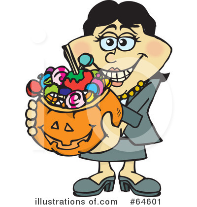 Trick Or Treating Clipart #64601 by Dennis Holmes Designs