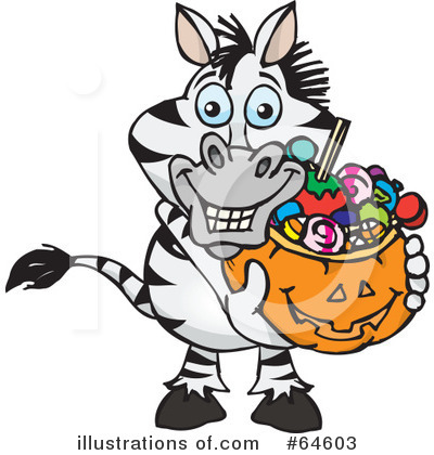 Trick Or Treating Clipart #64603 by Dennis Holmes Designs