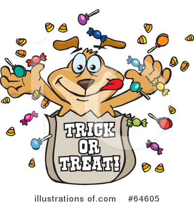 Trick Or Treating Clipart #64605 by Dennis Holmes Designs