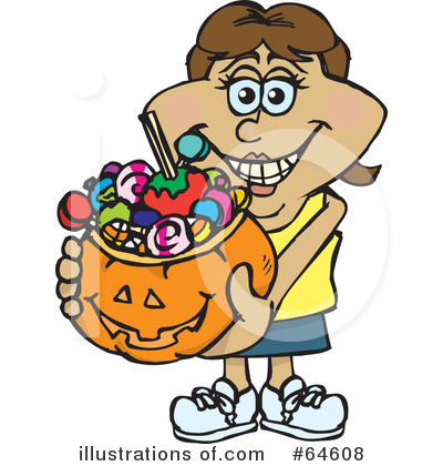 Trick Or Treating Clipart #64608 by Dennis Holmes Designs