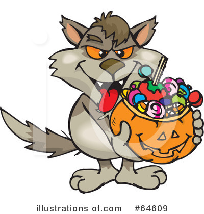 Trick Or Treating Clipart #64609 by Dennis Holmes Designs