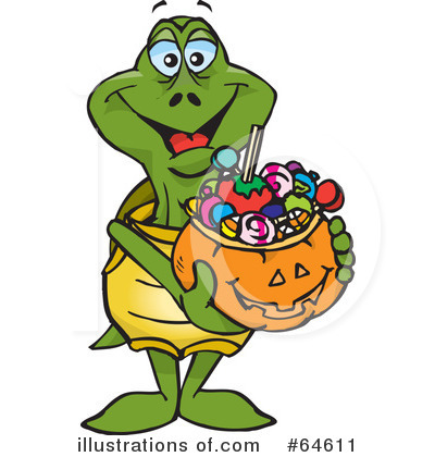 Trick Or Treating Clipart #64611 by Dennis Holmes Designs