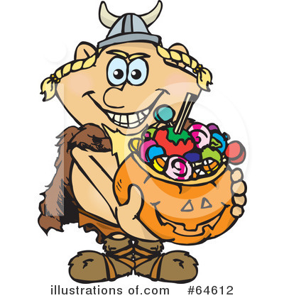 Trick Or Treating Clipart #64612 by Dennis Holmes Designs