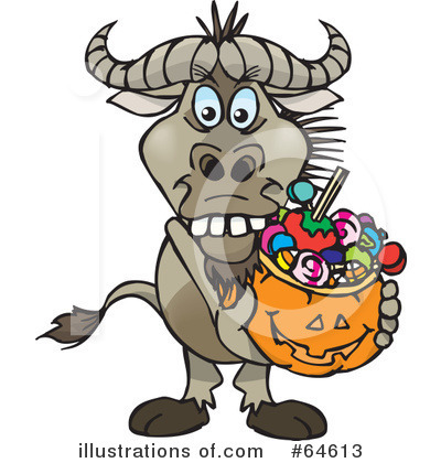 Trick Or Treating Clipart #64613 by Dennis Holmes Designs