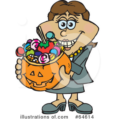 Trick Or Treating Clipart #64614 by Dennis Holmes Designs