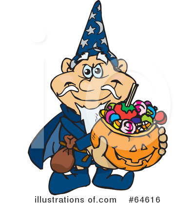 Trick Or Treating Clipart #64616 by Dennis Holmes Designs