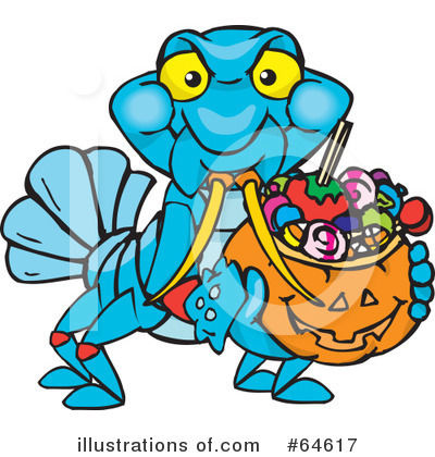 Royalty-Free (RF) Trick Or Treating Clipart Illustration by Dennis Holmes Designs - Stock Sample #64617